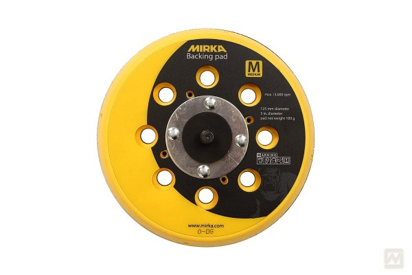 "Mirka Grip-Schleifteller Ø125mm, 5/16"", gelocht, medium"