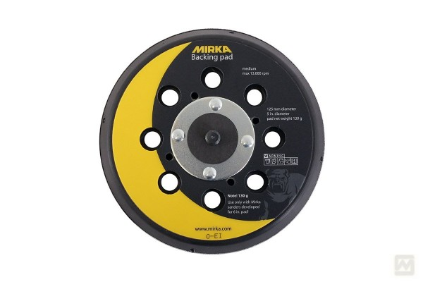 "Mirka Grip-Schleifteller Ø125mm, 5/16"", gelocht, medium (für Ø150mm)"